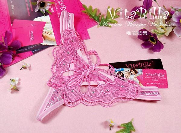エロ下着の通販商品:蝶柄Tバック1502ピンク・イメージ写真5