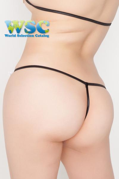 エロ下着の通販商品:極小ビキニ・TバックE2327・黒・イメージ写真8
