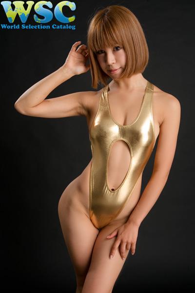 ボディコン通販の商品:ハイレグレオタード・ゴールドE4324・イメージ写真3