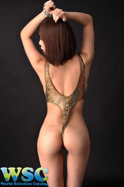 ボディコン通販の商品:ラメグリッターのレオタード・ゴールド4928・イメージ写真2