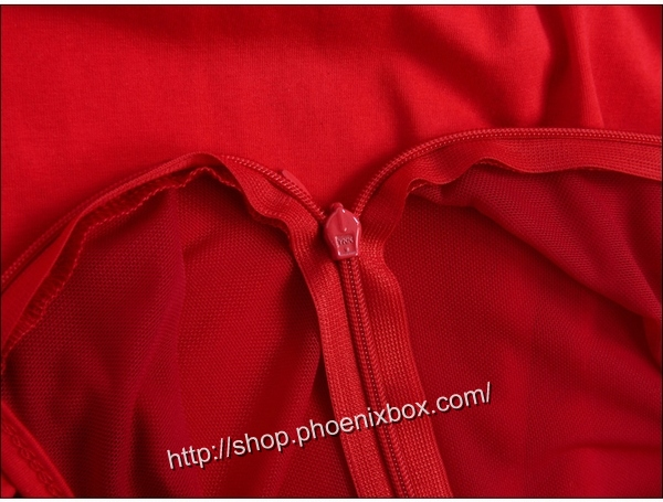 ボディコン通販の商品:ノースリーブ・タイトワンピ・赤E6096・イメージ写真7