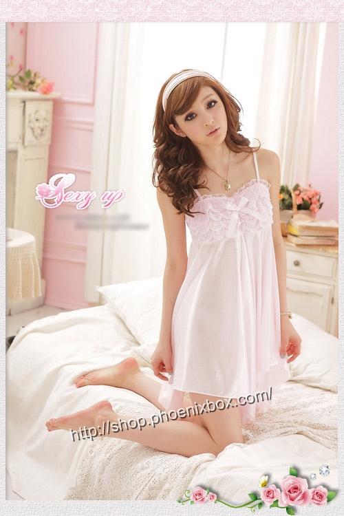 エロ下着の通販商品:ミニドレス風ベビードール・SS011ピンク・イメージ写真3