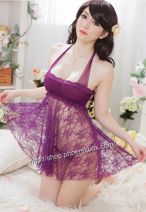 エロ下着の通販商品:ベビードール・紫E1035・イメージ写真3