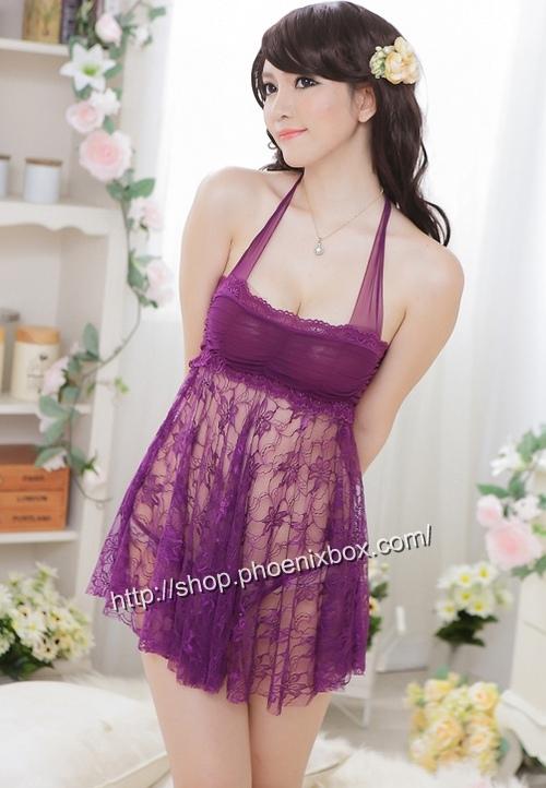 エロ下着の通販商品:ベビードール・紫E1035・イメージ写真2