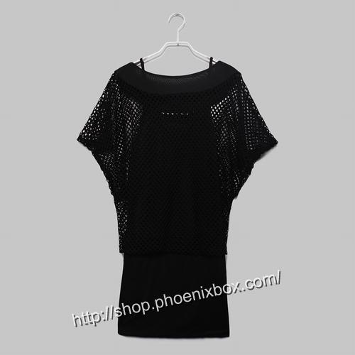 ボディコン通販の商品:網ニットワンピ・黒22221・イメージ写真11