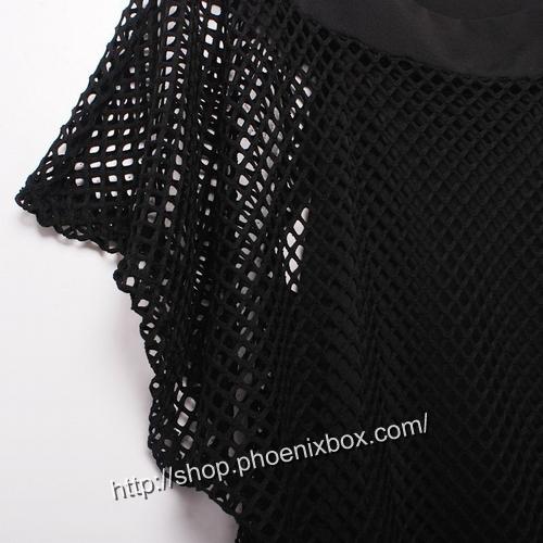 ボディコン通販の商品:網ニットワンピ・黒22221・イメージ写真12