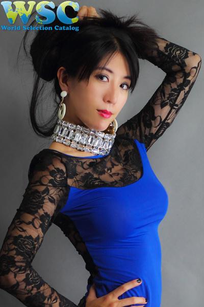 ボディコン通販の商品:長袖タイトワンピ・ブルーE4100BU・イメージ写真6