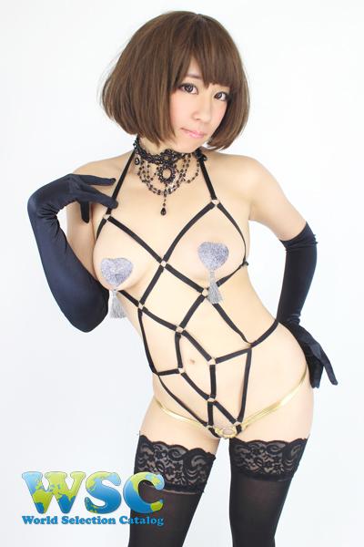 エロ下着の通販商品:亀甲縛り風SMボンデージ・黒48903・イメージ写真1