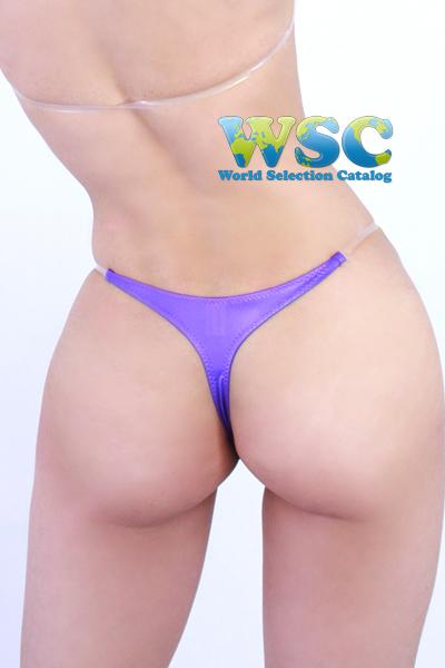 エロ下着の通販商品:光沢マイクロTバックビキニ52541・紫・イメージ写真4