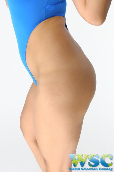 エロ下着の通販商品:ハイレグTバックレオタード・92604ブルー・イメージ写真4