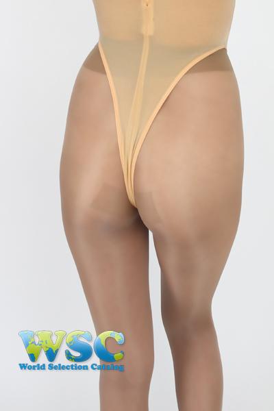 エロ下着の通販商品:ハイレグ・Tバック・レオタードRH05T・ベージュ・イメージ写真4