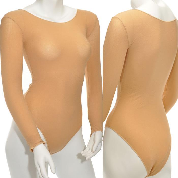 エロ下着の通販商品:ボディストッキングE1919・ベージュ・イメージ写真5