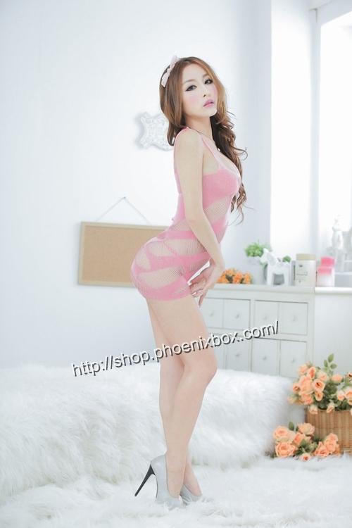 エロ下着の通販商品:ボディコン風ボディストッキング・ピンク・イメージ写真2