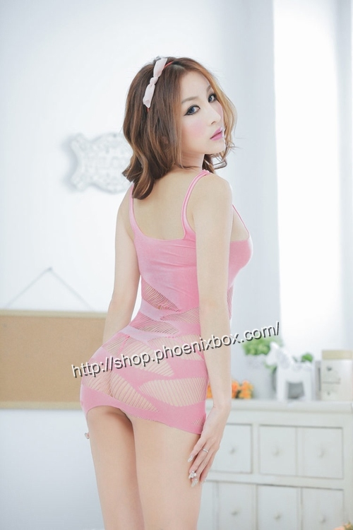 エロ下着の通販商品:ボディコン風ボディストッキング・ピンク・イメージ写真3