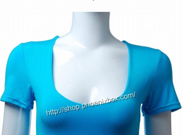 ボディコン通販商品:セクシーチビT・ブルーMA012・イメージ写真4