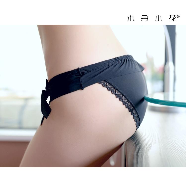 エロ下着の通販商品:フルバックショーツ・黒・M6003・イメージ写真3
