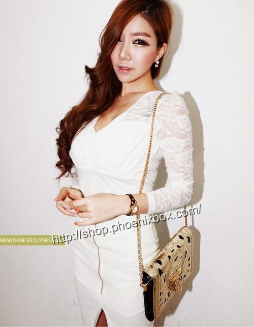 エロ下着の通販商品:ファスナー付のタイトスカート・白P158・素人着用写真1